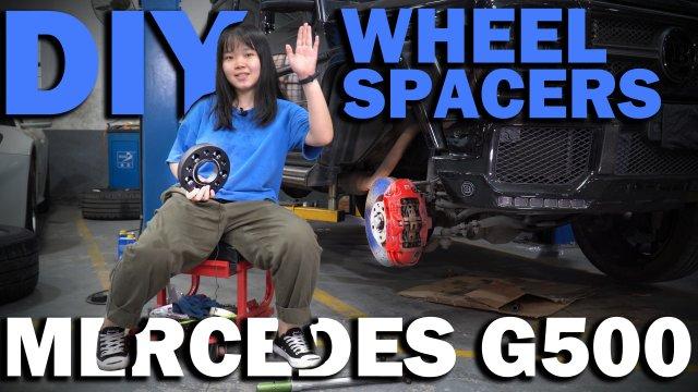 bonoss wheel spacers install on mercedes benz g500.jpg